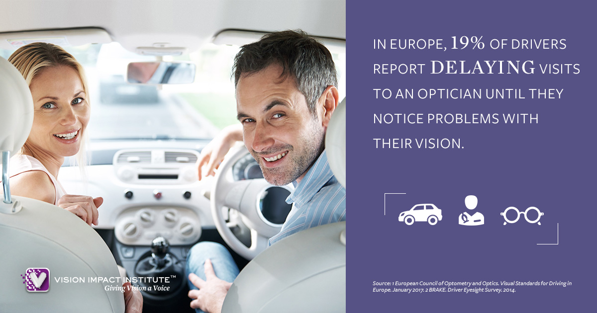Driving and vision infographics Vision Impact Institute - Points De Vue
